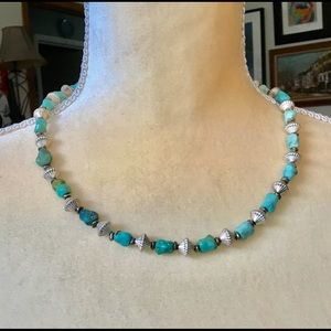 Jewelry - Sterling & Turquoise Native American necklace